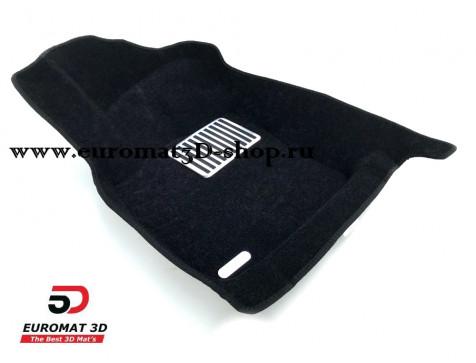 Текстильные 5D коврики с высоким бортом Euromat3D в салон для Audi A3 (2014-) № EM5D-004507