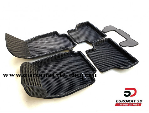 3D коврики Euromat3D EVA в салон для Audi A6 (2019-) № EM3DEVA-001111