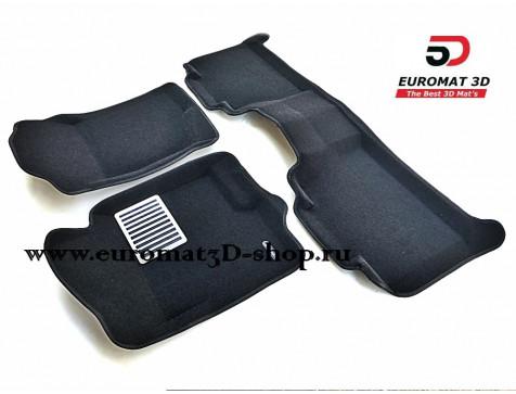 Текстильные 3D коврики Euromat3D Lux в салон для Cadillac Escalade (2007-2014) № EM3D-001302